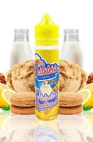 Delicioso helado de mantecado con un toque a canela y limón. ¡Lo vapearás con gusto en elmomento del postre!